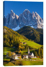 Canvas print  St. Magdalena, Val di Funes, Trentino-Alto Adige, Dolomites, South Tyrol, Italy, Europe - Miles Ertman