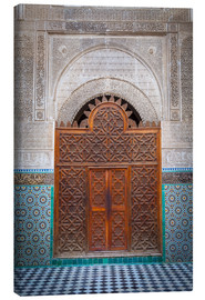 Canvas print  Door of the Medersa Bou Inania, Fes - Douglas Pearson