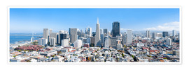 Premium poster  San Francisco skyline in summer - Jan Christopher Becke