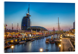 Acrylic print  Sail 2015 Klimahaus - Havenwelten Bremerhaven at night - Rainer Ganske