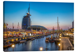 Canvas print  Sail 2015 Klimahaus - Havenwelten Bremerhaven at night - Rainer Ganske