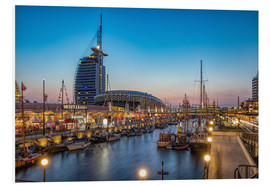 Foam board print  Sail 2015 Klimahaus - Havenwelten Bremerhaven at night - Rainer Ganske
