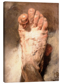 Canvas print  Foot of the artist - Adolph von Menzel