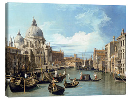 Canvas  Entrance to the Canal Venice - Bernardo Bellotto (Canaletto)