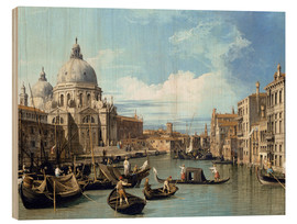 Wood  Entrance to the Canal Venice - Bernardo Bellotto (Canaletto)