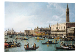 Acrylic print  The harbour of San Marco on Ascension Day - Bernardo Bellotto (Canaletto)