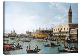 Canvas print  The harbour of San Marco on Ascension Day - Bernardo Bellotto (Canaletto)