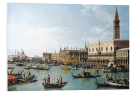 Foam board print  The harbour of San Marco on Ascension Day - Bernardo Bellotto (Canaletto)