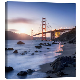 Canvas print  San Francisco Golden Gate Bridge - Jan Christopher Becke