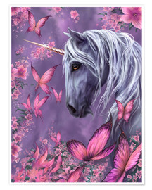Premium poster  The Butterfly Unicorn - Susann H.