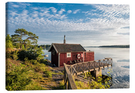 Canvas print  Archipelago on the Baltic Sea coast near Stockholm (Sweden) - Rico Ködder