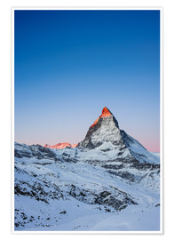 Premium poster  Matterhorn at sunrise from Riffelberg - Peter Wey