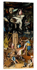 Acrylic print  Garden of earthly delights, Hell - Hieronymus Bosch