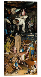 Canvas  Garden of Earthly Delights, Hell - Hieronymus Bosch
