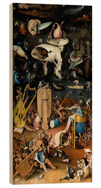 Wood print  Garden of earthly delights, Hell - Hieronymus Bosch