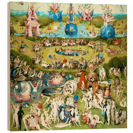 Wood print  The Garden of Earthly Delights - Hieronymus Bosch