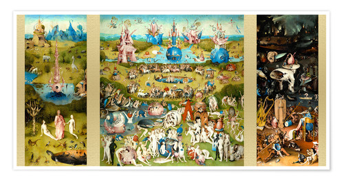 Premium poster The garden of earthly delights