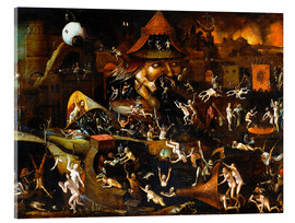 Acrylic print  The harrowing of hell - Hieronymus Bosch
