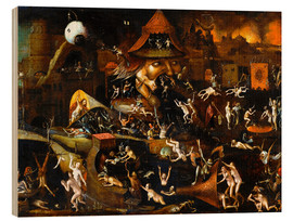 Wood print  The harrowing of hell - Hieronymus Bosch