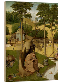 Wood print  The temptation of St.. Antonius - Hieronymus Bosch