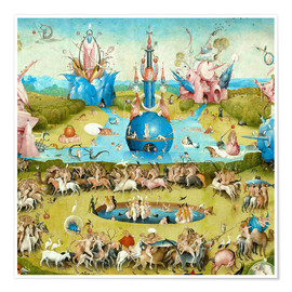 Premium poster Garden of Earthly Delights, mankind before the Flood (detail)