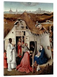 Acrylic print  Adoration of the Magi - Hieronymus Bosch