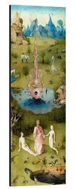 Aluminium print  Garden of Earthly Delights, the paradise - Hieronymus Bosch