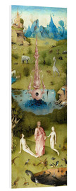 Foam board print  Garden of Earthly Delights, the paradise - Hieronymus Bosch