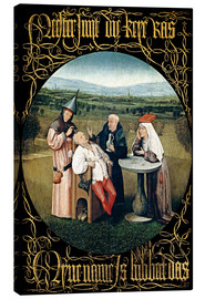 Canvas print  Cutting the stone - Hieronymus Bosch