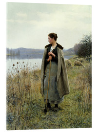 Acrylic print  The Shepherdess of Rolleboise - Daniel Ridgway Knight