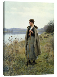Canvas print  The Shepherdess of Rolleboise - Daniel Ridgway Knight