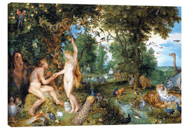 Canvas  Garden of Eden with the Fall of Man - Jan Brueghel d.Ä.