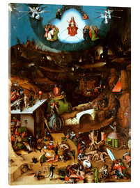 Acrylic print  The Last Judgement, midsection - Hieronymus Bosch
