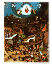 Premium poster The Last Judgement, midsection