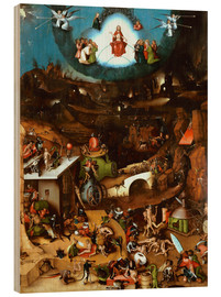 Wood print  The Last Judgement, midsection - Hieronymus Bosch