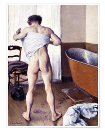 Premium poster  Man in the bathroom - Gustave Caillebotte
