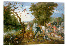 Acrylic print  Noah leads the animals into the ark - Jan Brueghel d.Ä.