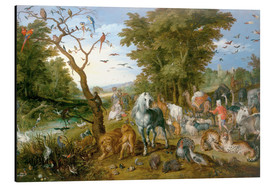 Aluminium print  Noah leads the animals into the ark - Jan Brueghel d.Ä.