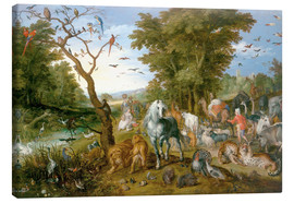 Canvas print  Noah leads the animals into the ark - Jan Brueghel d.Ä.