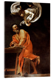 Acrylic glass  The inspiration of St Matthew - Michelangelo Merisi (Caravaggio)