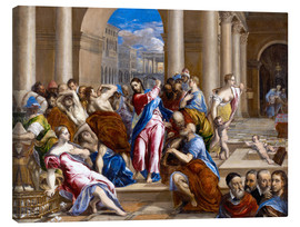 Canvas print  Christ expels traders from the temple - Dominikos Theotokopoulos (El Greco)