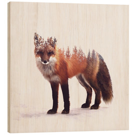 Wood print  Fox - Peg Essert