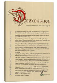 Canvas  Desiderata English 3 - Dirk h. Wendt