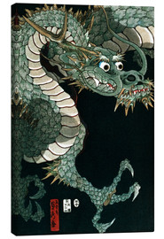 Canvas  A dragon - Utagawa Sadahide