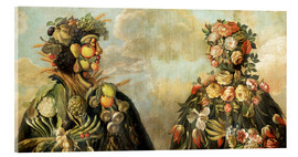 Acrylic glass  A anthropomorphosic profile of a man and a woman - Giuseppe Arcimboldo