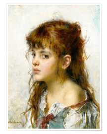 Premium poster Portrait of a young Girl