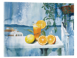 Acrylic print  Glass with oranges - Franz Heigl