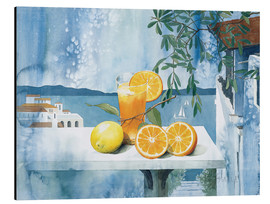 Aluminium print  Glass with oranges - Franz Heigl