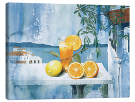 Canvas  Glass with oranges - Franz Heigl