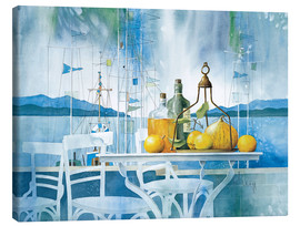 Canvas print  Greek ambience - Franz Heigl